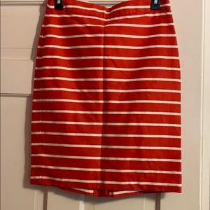 Banana Republic striped pencil skirt
